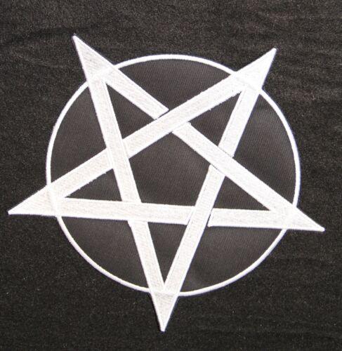 Pentagramm Backpatch Rückenaufnäher 21x21cm Aufbügler Patch Gothic Kutte Hexe