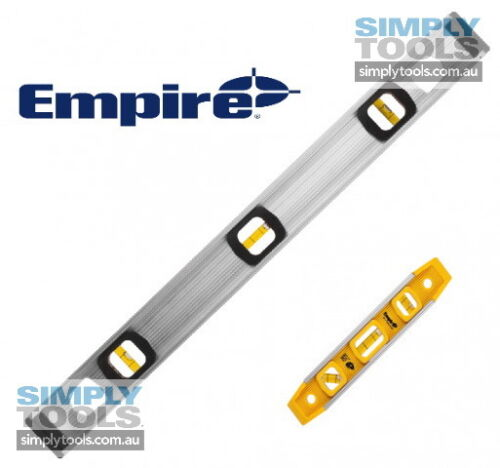 "Empire 2 PC LEVEL SET Magnetic Torpedo Level 225mm9"" AND 610mm24"" Aluminium"