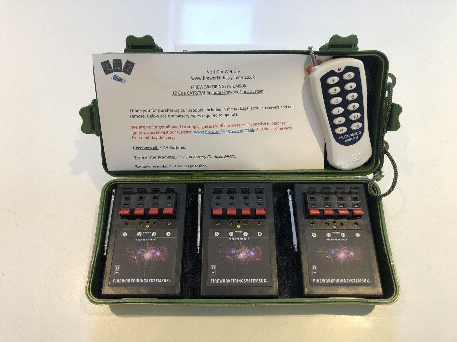 12 Cue Firework Firing System, Professional, Wireless, FREE 12x IGNITER