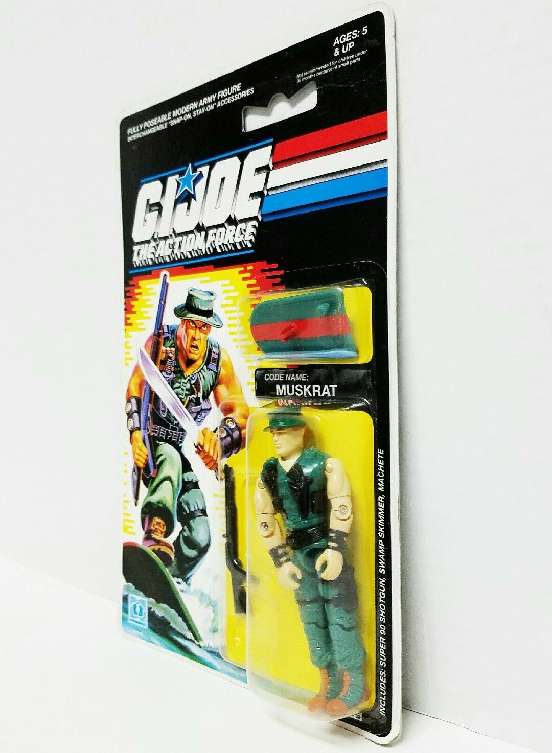 GI GI GI Joe MUSKRAT 1990 MOC European Hasbro Vintage Factory Sealed Action Figure cdce09