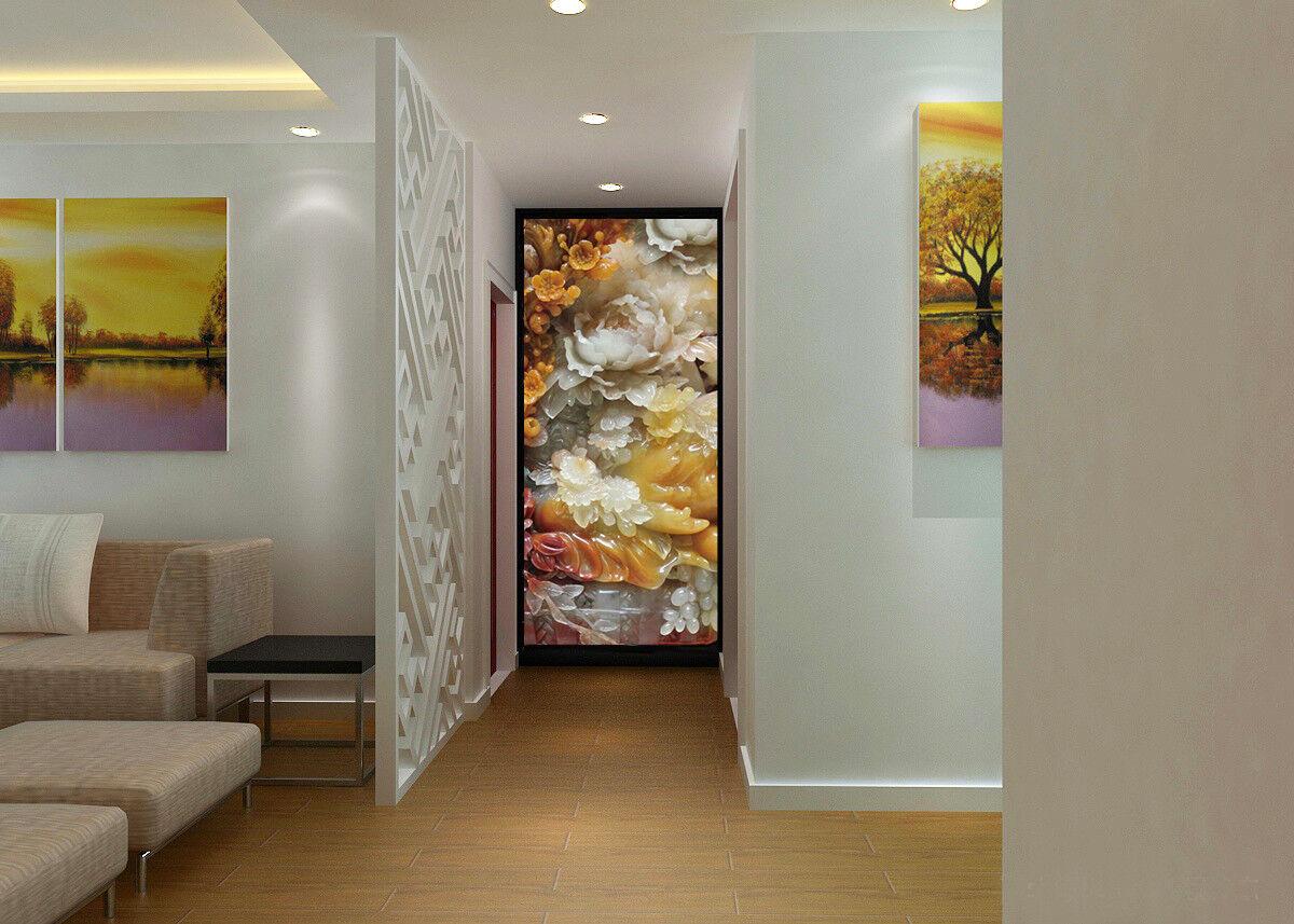 3D Emboss Flower 989 Wallpaper Mural Wall Print Wall Wallpaper Murals US Carly