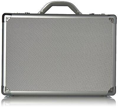 "Aluminum Briefcase Laptop Attache Hard Metal Case Locks Padded 17/"" Professional"