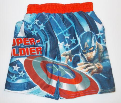 Captain America Toddler Infant Boys Swim Trunks Shorts Sizes 24M and 3T NWT