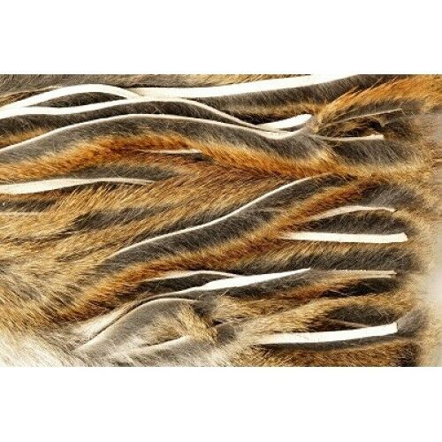 Zonker strips for Fly Tying, Pine Squirrel Micro Zonker, Soft 2mm strips Natural