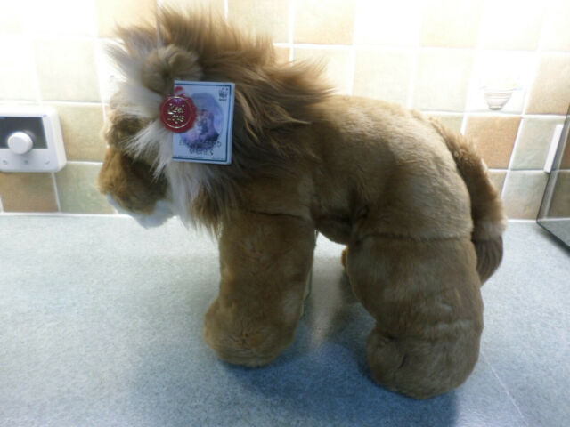 "A Very Soft 16"" African Lion ""Endangered Species"" By Keel Toys"
