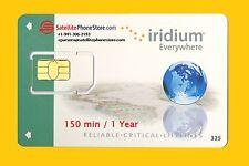 Iridium Sat Phone Prepaid Global Satellite SIM Card - 150 Minutes, Valid 1 Year