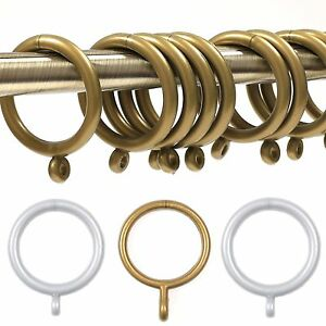 Curtain Pole Rings Chrome Effect  Mm Pk