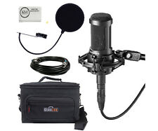 Audio-Technica AT2035 Large Diaphragm Studio Condenser Microphone Deluxe Kit