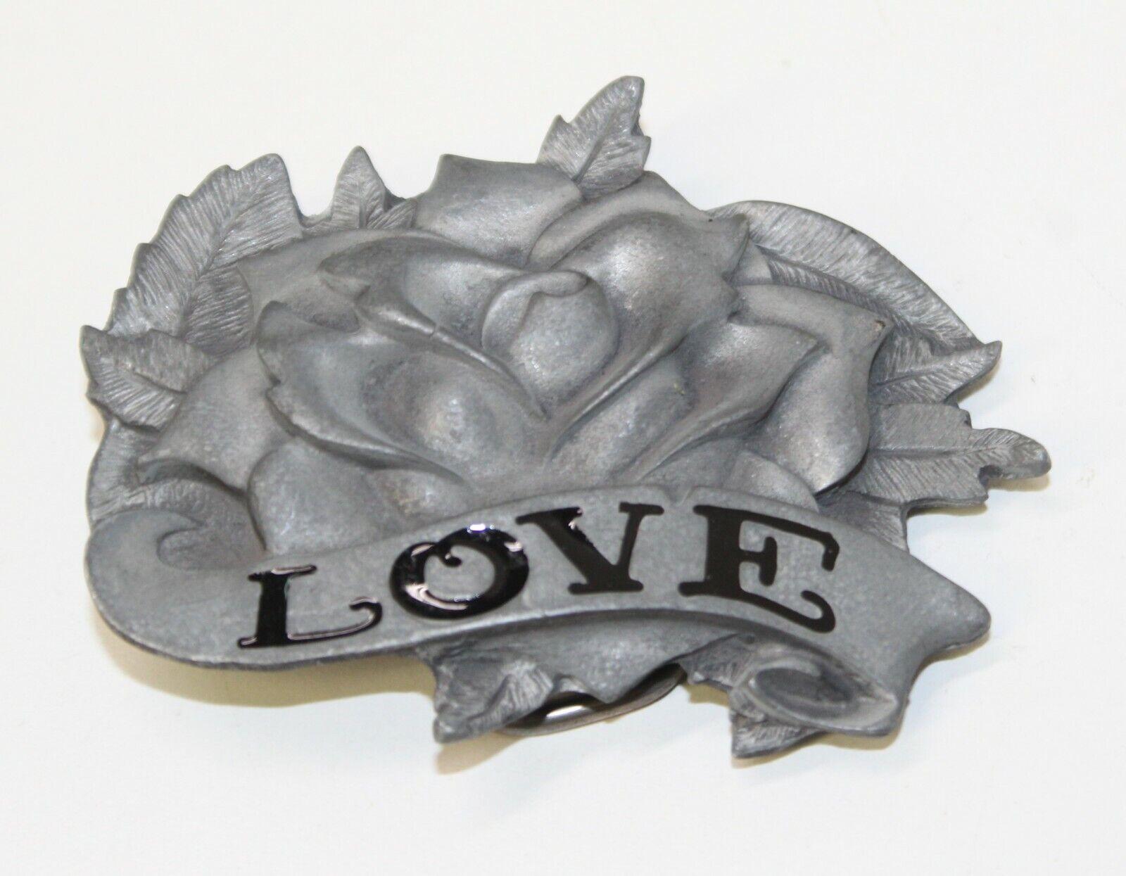Heavy Metal Buckles Love Rose Metal Novelty Fashion Belt Buckle Free Shipping