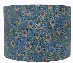 Peacock Feather Blue Green Patterned Lampshade Ceiling