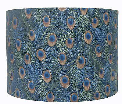 Pea Feather Blue Green Patterned, Blue And Green Lamp Shade