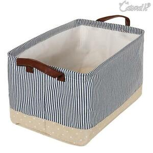 Canvas-Storage-Collapsible-Box-Foldable-Basket-Fabric-Cube-Cloth-Toy-Bag