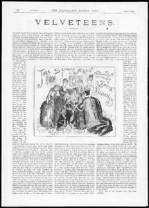 1884-Antique-Print-COSTUMES-Velveteens-Seven-Ages-Louis-Ladies-Girls-225
