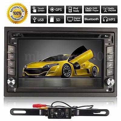 GPS Navigation 2DIN 1080P HD Car Stereo DVD Player Bluetooth MP3 TV SD+Camera