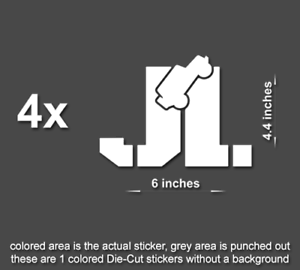 4x Jeep X Decals Stickers for Rubicon hood TJ JK CJ YJ JL