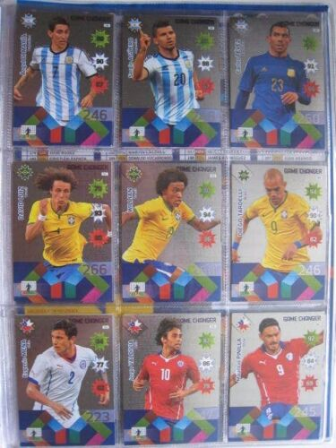 18 CARD set Game Changer CARD PANINI Adrenalyn XL Chile 2015 Copa America