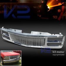 94-98 GMC C10 Yukon C/K 1500/2500/3500 Suburban 1-Piece Chrome Vertical Grille
