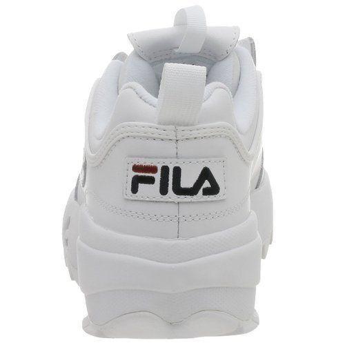 Fila Disruptor II GS Boy/'s// Women/'s Walking Shoes White//Peacoat//Red FW02945-111