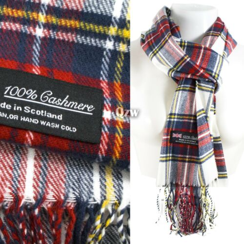 Winter Men Women Warm 100/% Cashmere Scotland Made Plaid Scarf Wraps Wool Scarves