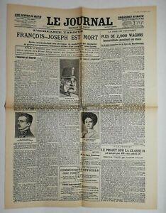 N617-La-Une-Du-Journal-Le-journal-22-novembre-1916-Francois-Joseph-est-mort