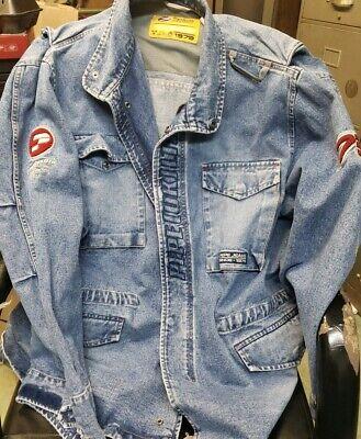Vintage Pepe Jeans London Blue Denim Distressed Multi Pocket Jacket Size XXL 2XL | eBay