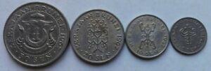 Brunei-4-pcs-1st-Series-1967-50-sen-20-sen-10-sen-amp-5-sen-set-coin