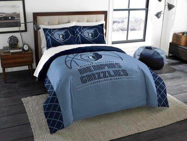 Memphis Grizzlies - 3 Pc FULL   QUEEN Größe Printed Comforter   Sham Set