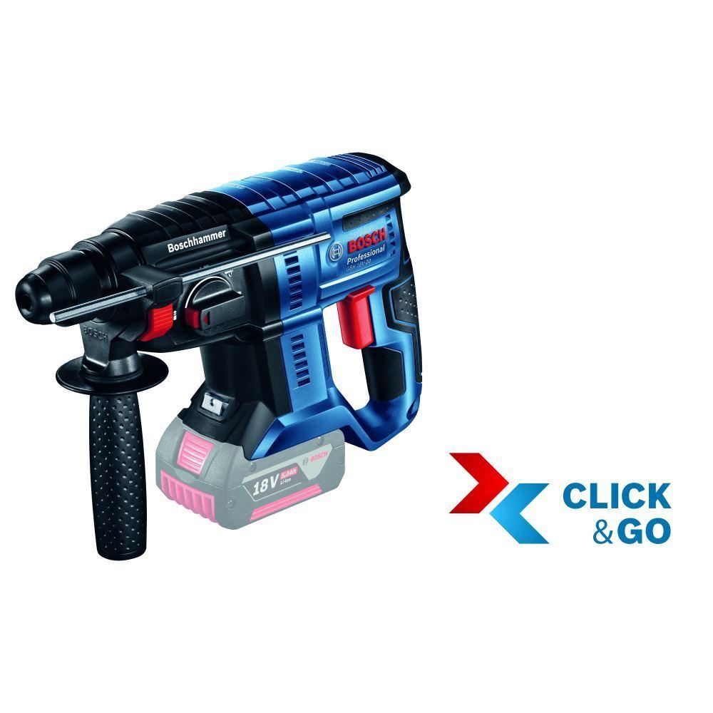 Bosch Akku-Schlagbohrhammer GBH 18V-20 ohne Akku ohneLadegerät   L-Boxx
