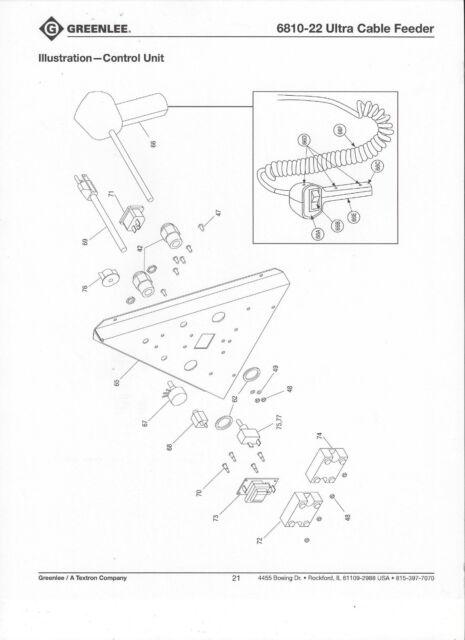 Buy Pendant Switch Part Greenlee 975 Hydraulic Pump 6810 Ultra