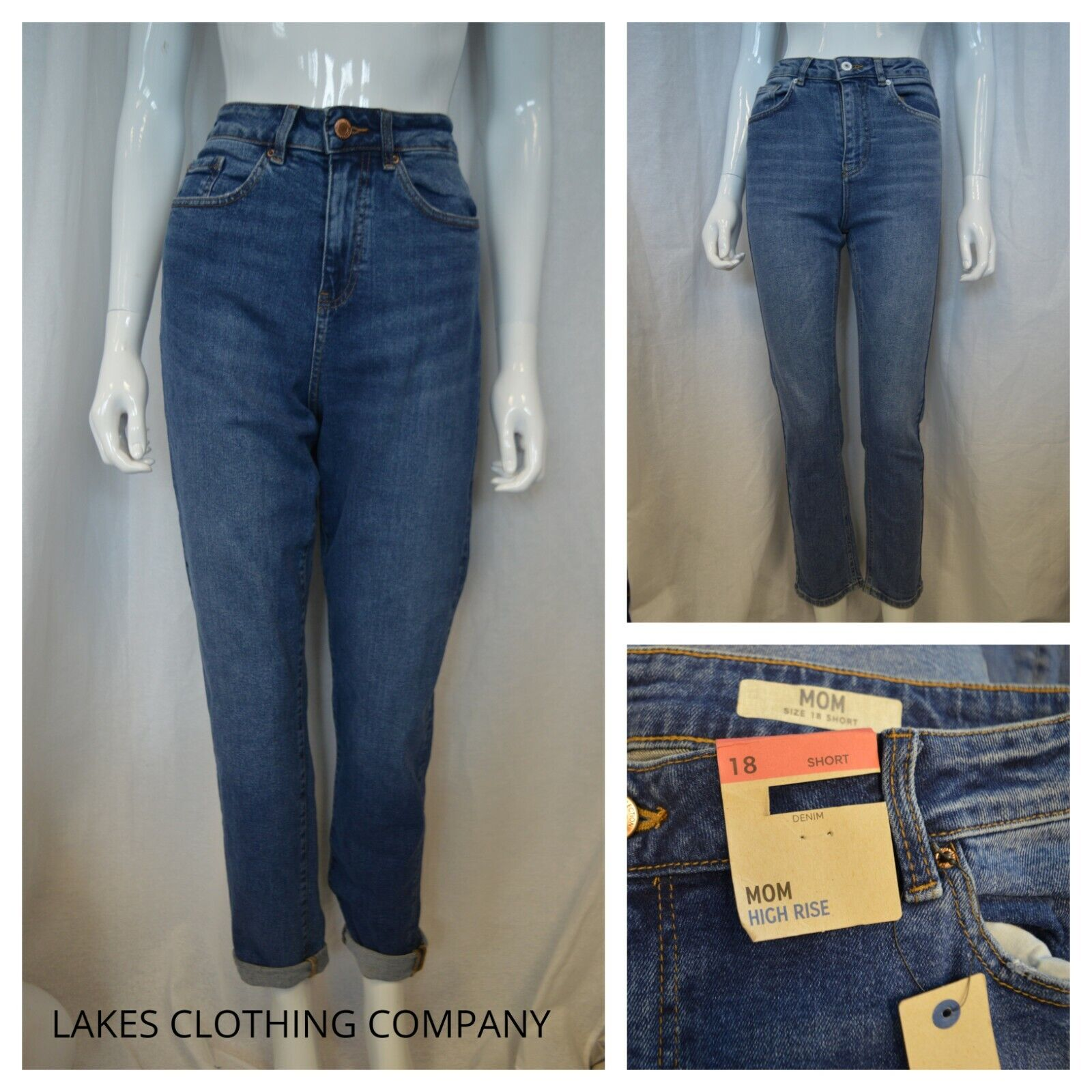 """New  M/&S  Ladies Mid Rise Relaxed Straight Trousers  Size 16 Length 29.5"""""""