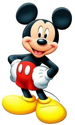 """Mickey Mouse Iron On Transfer 6.25 """"x 10.25"""" for LIGHT Colored Fabric"""
