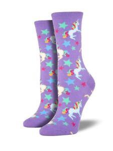 Unicorn-Girls-Socks-Ladies-Magical-Purple-Unicorns-Christmas-Gift-Socksmith