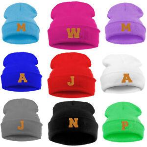 ffe2dce17c6f8 Kids School Winter Beanie Hat Children Girls Boy Boys Knitted Gold ...