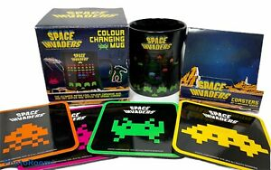 SPACE INVADERS Color Colour Changing Coffee Mug Bar ...