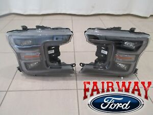 Details About 18 Thru 20 F 150 Oem Ford Black Special Edition Led Head Lamps Lights Pair New
