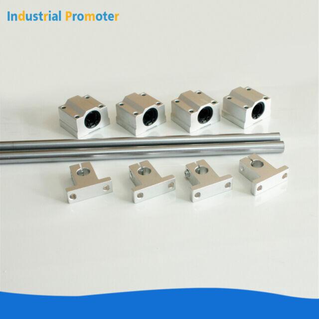 1pcs 8mm SK8 Chrome Linear Rail Shaft Guide Support Bracket Bearing Step Motor