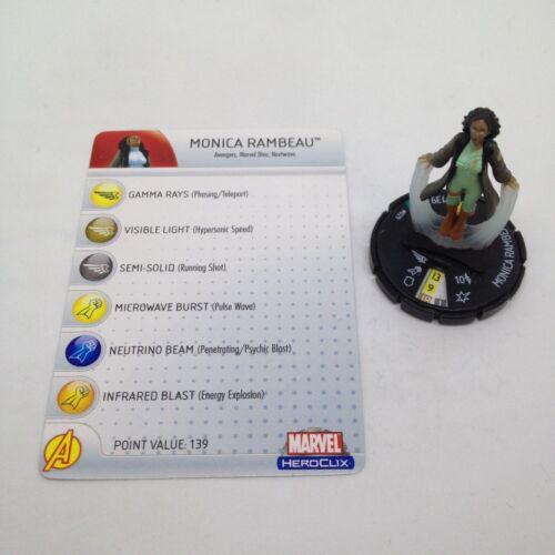 Heroclix Giant Size X-Men set Monica Rambeau #029 Uncommon figure w//card!