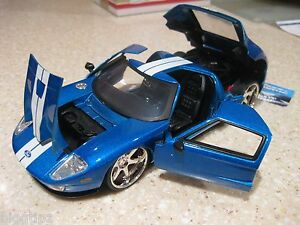 Image Is Loading Ford Gt Fast And Furious Blue Car
