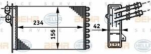 HELLA Wärmetauscher Innenraumheizung für VW AUDI SEAT 268865