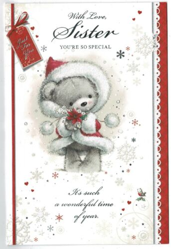 """Soeur Carte de Noël /""""Avec amour Soeur votre si spéciale/"""""""