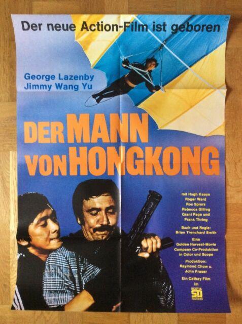 Mann von Hongkong (Kinoplakat '75) George Lazenby / Jimmy Wang Yu / Gleitschirm