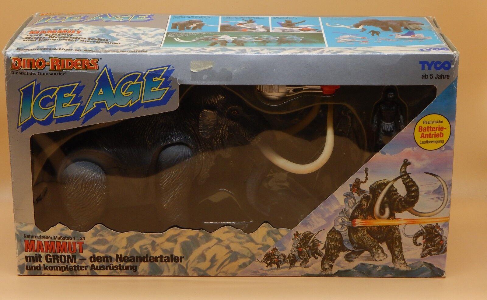 1989 vintage Tyco Dino Riders Ice Age  MAMMOTH w Grom cifra 100% completare in scatola  seleziona tra le nuove marche come