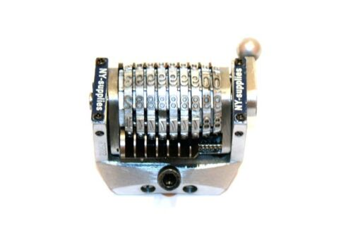 "3//16/"" Gothic Rotary Convex Numbering Machine for Morgana Standard New 9 Digit"