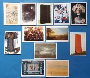 Collection-Set-of-12-Art-Postcards-Sculptures-Assemblage-Artists-PC466