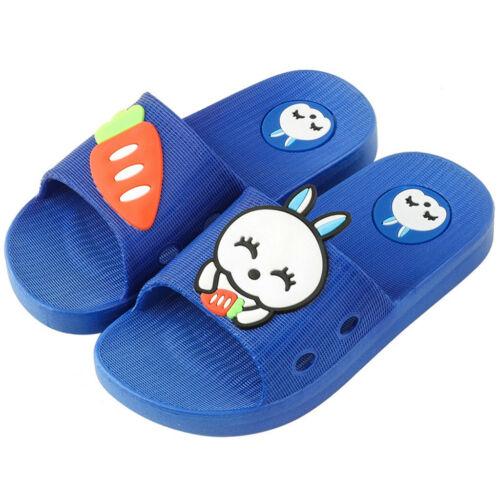 Niños Bebé Niños Niñas Niños Zapatillas De Casa Zapatos Sandalias de suelo conejo de dibujos animados