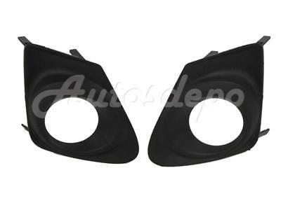 Fog Light Trim Set For 2014 Toyota Corolla Left /& Right Textured Black 2Pc