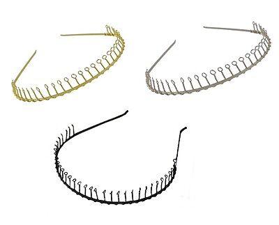 2 Black Stylish Unbrackable Plastic Alice Hair /& Head Band Girls Women Hair