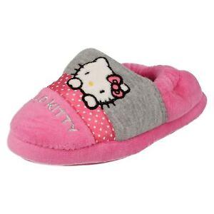 fabbrica all'ingrosso online migliore online Dettagli su Ragazze Rosa e Grigio Pantofole hello kitty