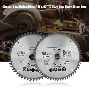 Lame de scie circulaire 250mm 48T & 60T Lame de disque de scie TCT Alésage 30mm