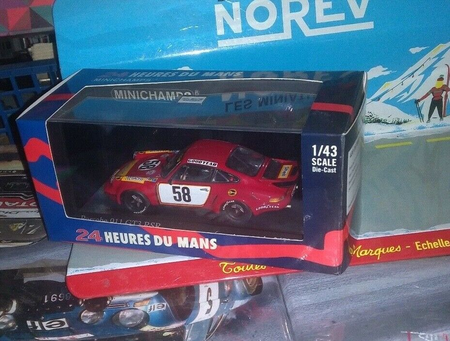 muy popular MINICHAMPS 1 43 PORSCHE PORSCHE PORSCHE 911 GT3 RSR  58 LE MANS 2008 NEUF EN BOITE  autentico en linea